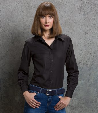 Oxford Shirts - Ladies Long Sleeve