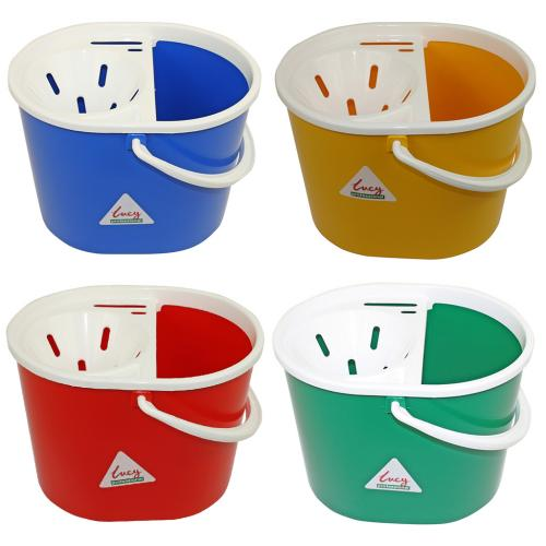 c27ae956f31 Lucy Oval Mop Bucket Plastic 7lt - R B Y G - Spot-On Supplies