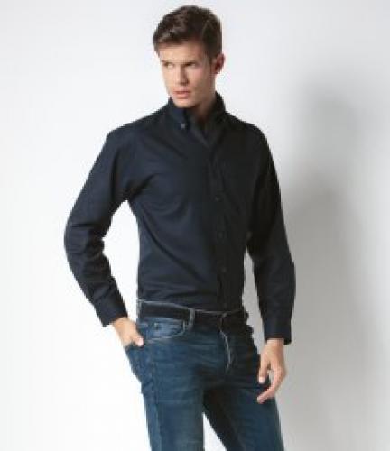 04f2492c98f Kustom Kit Long Sleeve Classic Fit Workwear Oxford Shirt - Spot-On ...